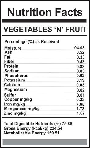 Carnivora Vegetables and Fruit   $2.80/lb