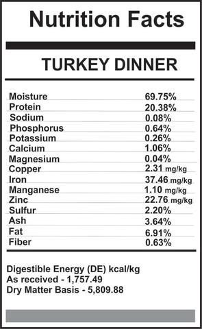 Carnivora Turkey Dinner   $4.40/lb