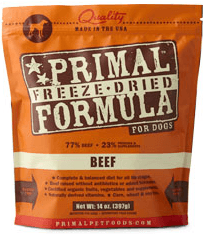 Primal Freeze Dried Dog Food Feeding Guide