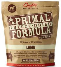 Primal Freeze Dried Lamb Formula