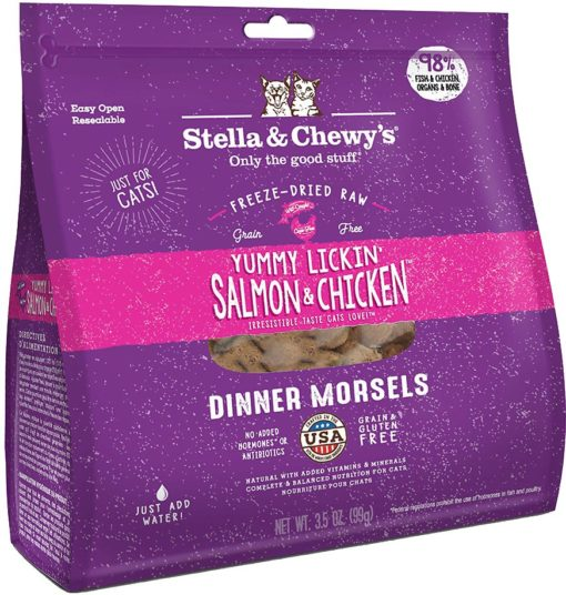 Stella & Chewy's Freeze Dried Salmon and Chicken for Cats