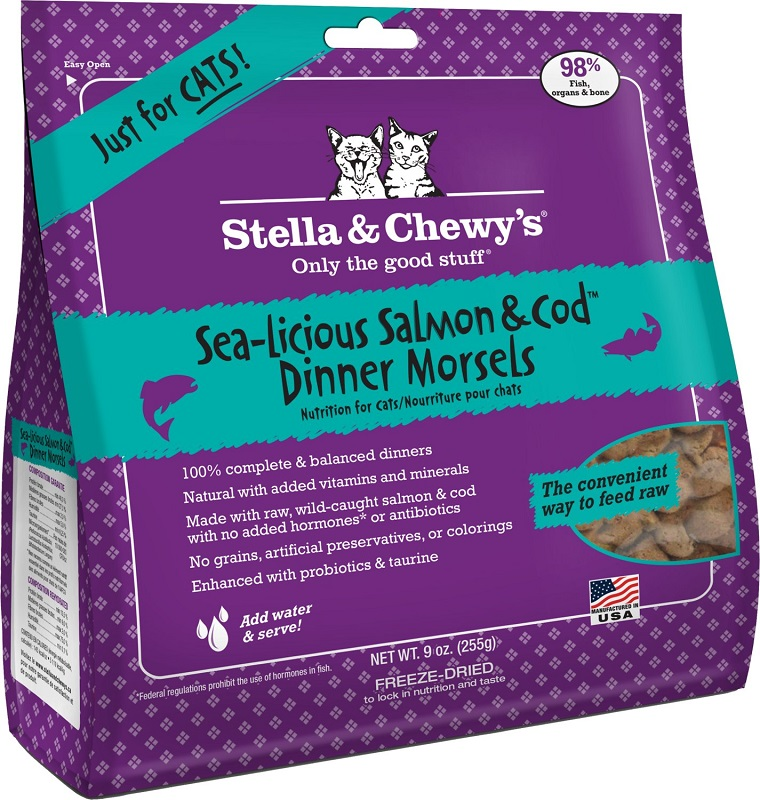 stella amp chewy s freeze dried salmon and cod for cats