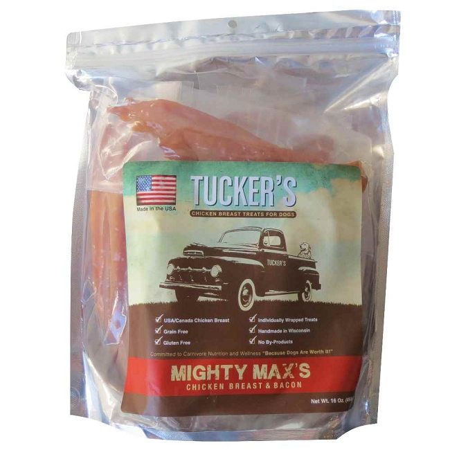 ... Dogs / Treats for dogs / Tuckers Mighty Max's Chicken Breast & Bacon