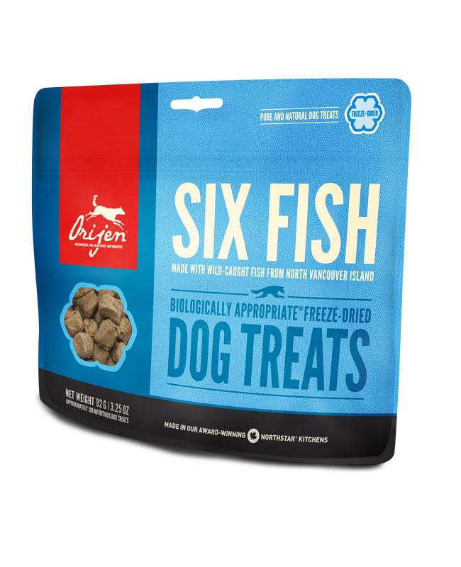 Orijen six fish freeze dried treats true carnivores for Orijen six fish
