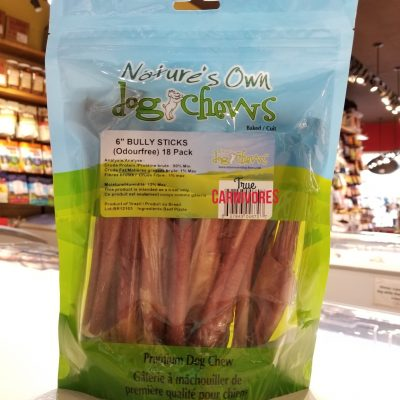 "Odour-Free Beef Bully Sticks 6"" (18 pack)"