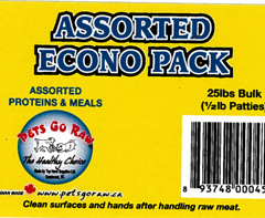 pets go raw assorted econo pack