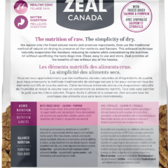 Zeal Air-Dried Turkey with Freeze-Dried Salmon & Pumpkin for Dogs