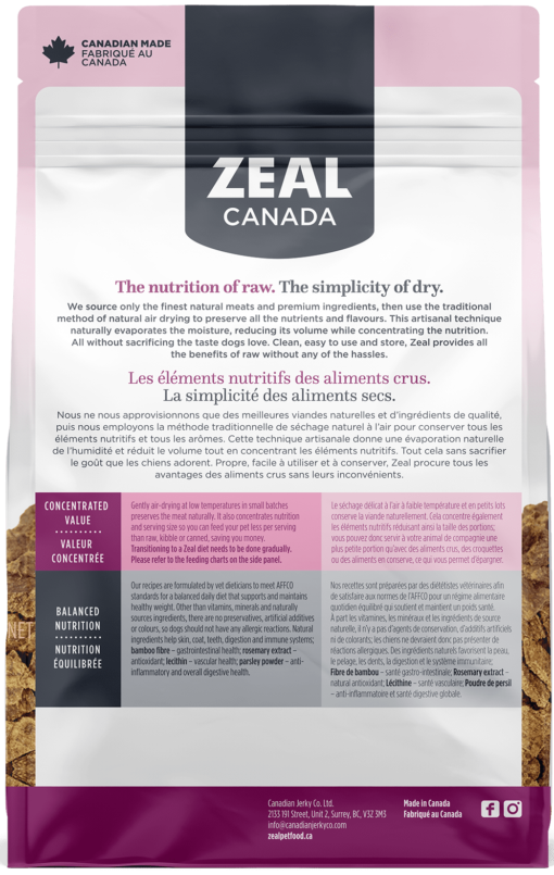 Zeal Air-Dried Turkey for Dogs