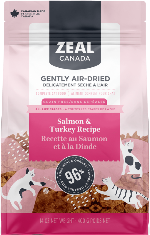 Zeal Air-Dried Salmon & Turkey for Cats