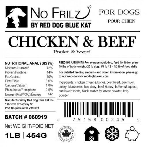 No Frilz Chicken & Beef