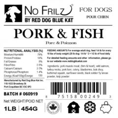 No Frilz Pork, Turkey & Fish