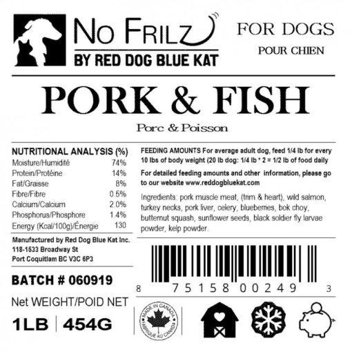 No Frilz Pork, Turkey & Fish
