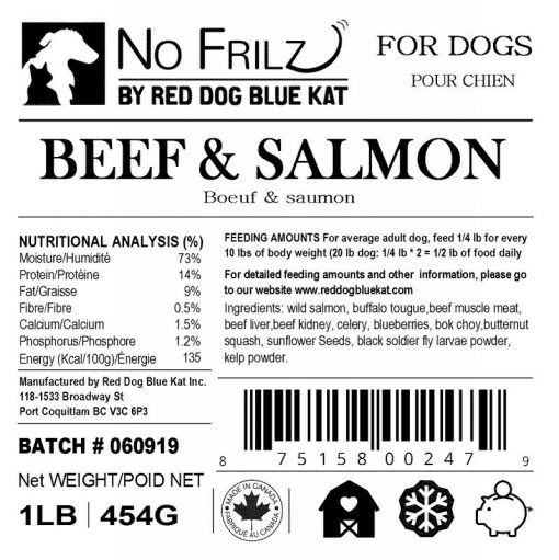 No Frilz Beef & Salmon