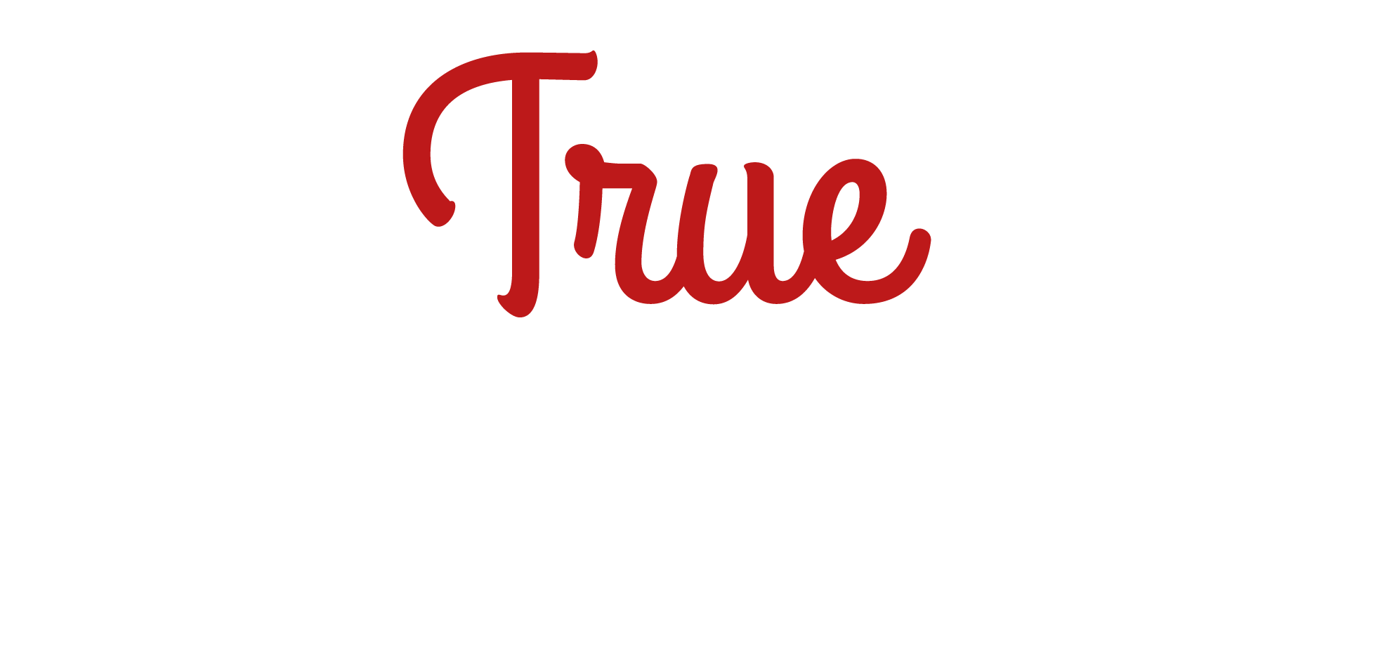 true carnivores footer logo white and red