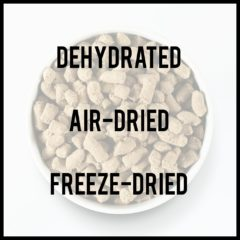 Dehydrated, Freeze Dried and Air Dried For Cats