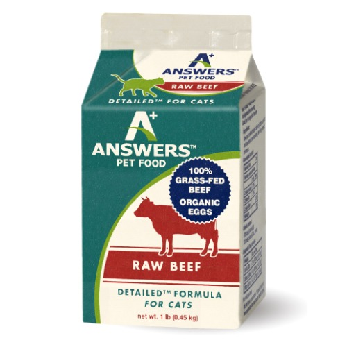 Answers Pastured Grass-Fed Beef for Cats