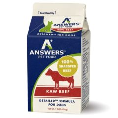 Answers Pastured Grass-Fed Beef for Dogs