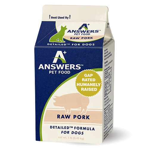 Answers Pastured Pork for Dogs